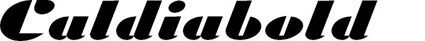 Preview image for Caldiabold Font
