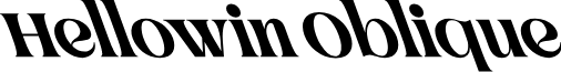 Hellowin Oblique