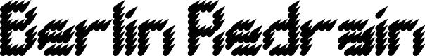 Preview image for BERLIN REDRAIN Regular Font