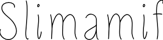Preview image for Slimamif Font