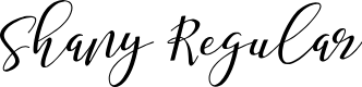 Preview image for Shany Regular Font