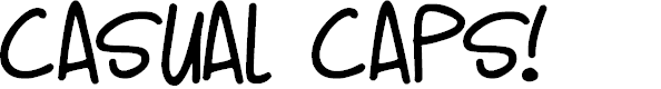 Preview image for Casual Caps Font