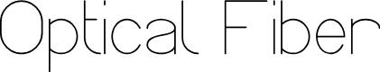 Preview image for Optical Fiber Font