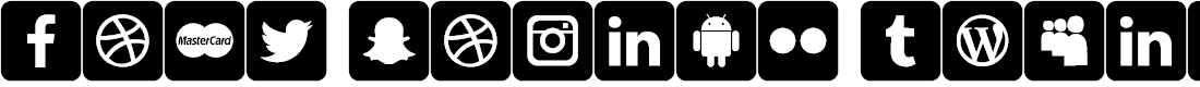 Preview image for font social media Font
