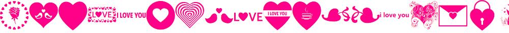 Font Hearts Love el harrak © el-harrak.blogspot.com