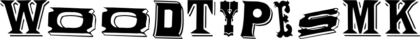 Preview image for WoodTypesMK Font