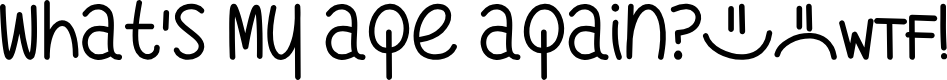 Preview image for Whats My Age Again Font