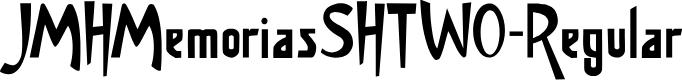 Preview image for JMHMemoriasSHTWO-Regular Font