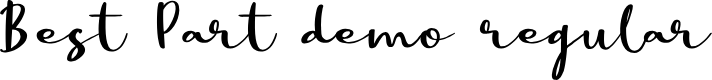 Preview image for Best Part DEMO Regular Font