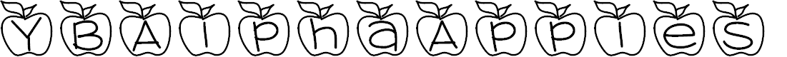 Preview image for YBAlphaApples Font