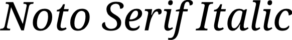 Preview image for Noto Serif Italic