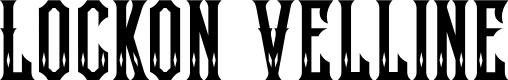 Preview image for Lockon Velline Font