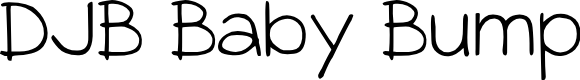 Preview image for DJB Baby Bump Font