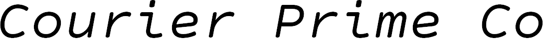 Preview image for Courier Prime Code Italic Font