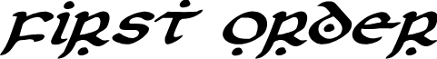 First Order Expanded Italic