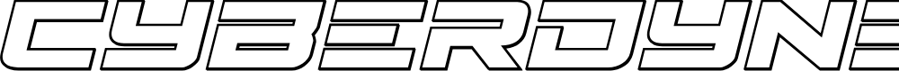 Preview image for Cyberdyne Outline Italic