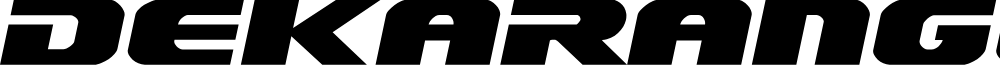 Dekaranger Expanded Italic