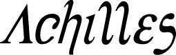 Preview image for Achilles Condensed Italic