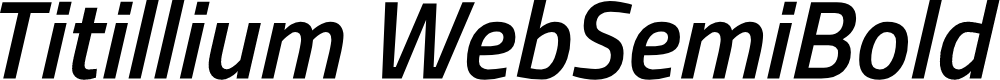 Preview image for Titillium WebSemiBold Italic