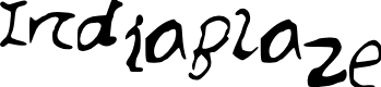Preview image for IndiaBlaze Font