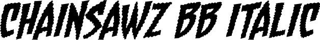 Preview image for Chainsawz BB Italic