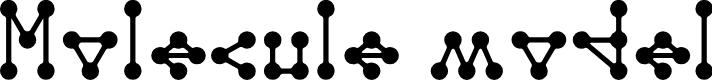 Preview image for Molecule model Regular E. Font