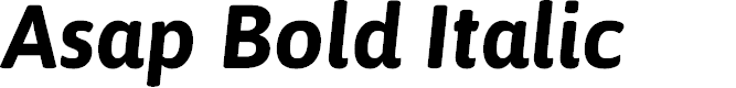 Preview image for Asap Bold Italic
