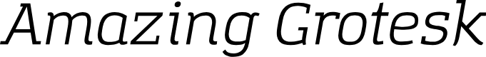 Preview image for Amazing Grotesk Italic