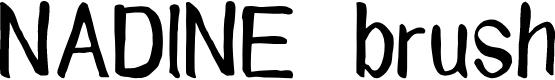 Preview image for NADINE brush Font