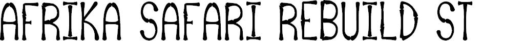 Preview image for Afrika Safari Rebuild St Font
