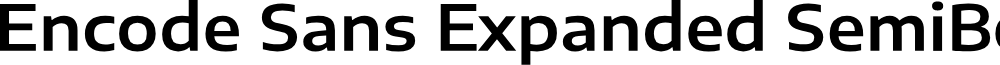 Encode Sans Expanded SemiBold