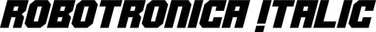 Robotronica Italic