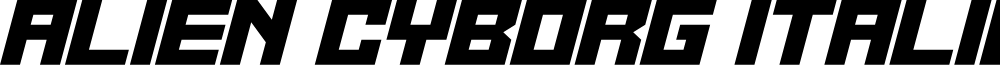 Alien Cyborg Italic