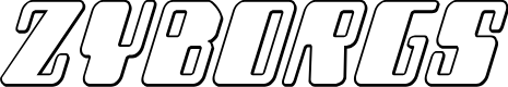 Preview image for Zyborgs Outline Italic