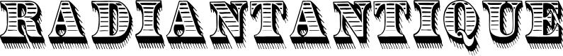 Preview image for RadiantAntique Font