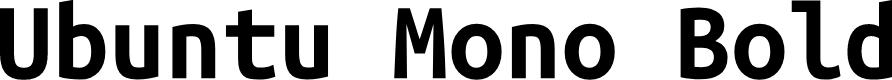 Preview image for Ubuntu Mono Bold