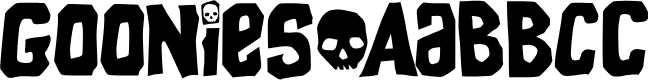 Preview image for Goonies Font