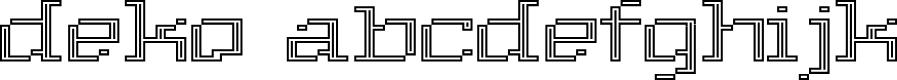 Preview image for Deko Font