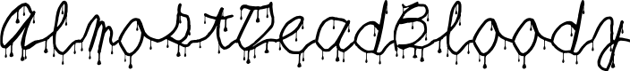 Preview image for AlmostDeadBloody Font