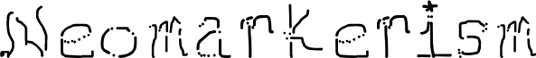 Neomarkerism font