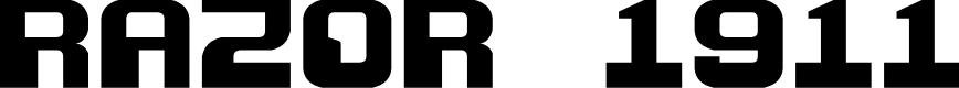 Preview image for Razor 1911 Font