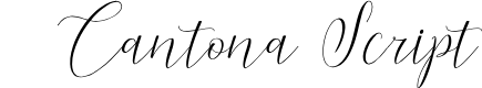 Preview image for CantonaScript Font