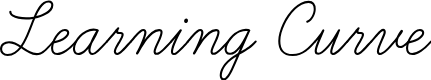 Preview image for Learning Curve Font