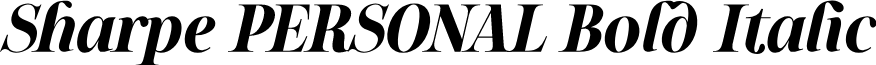 Sharpe PERSONAL Bold Italic