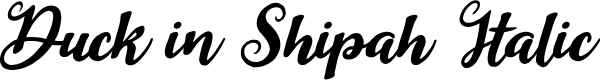 Preview image for Duck in Shipah Italic