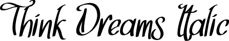 Preview image for Think Dreams Italic