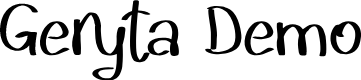 Preview image for Geryta Demo Font