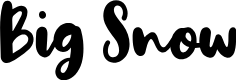Preview image for Big Snow Font
