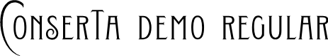 Preview image for Conserta DEMO Regular Font