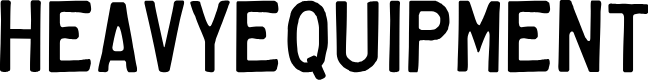 Preview image for HeavyEquipment Font